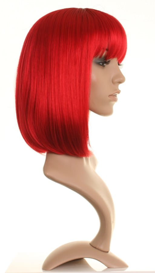 Robyn - Bright red mid length straight wig