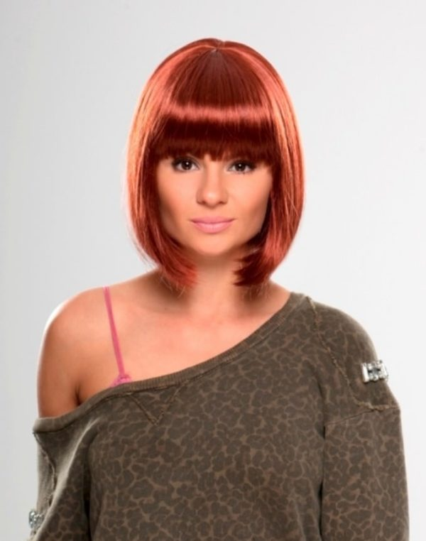 Stacey - Dark red bob wig