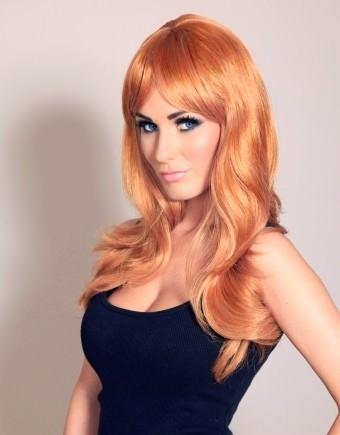 Zoe - Long Auburn ginger wig (layered)
