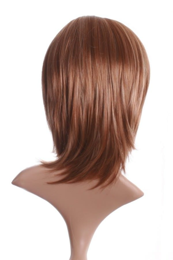 Kathy - Mid length layered wig (mid brown and blonde highlights)