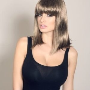 Jess - Brown wig with blonde highlights