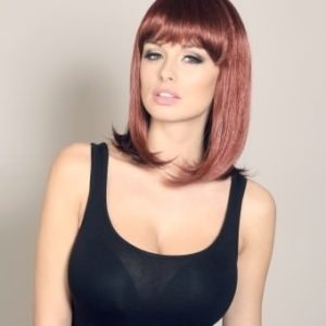 Heidi - Mid length / short red wig