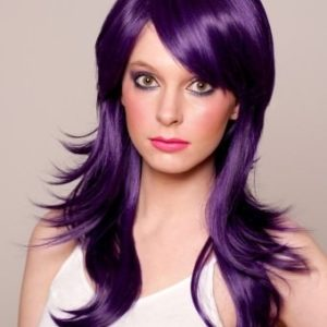 Rebelle - Long purple and black wig