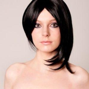 Libby - Rihanna style short black bobbed wig