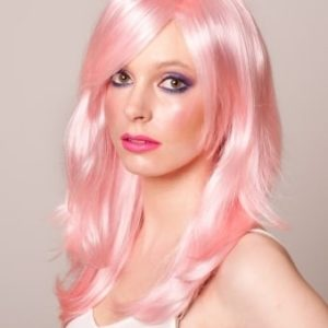 Jules - Long Light Baby Pink Layered Wig