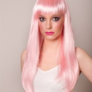Faith - Long straight light pink wig