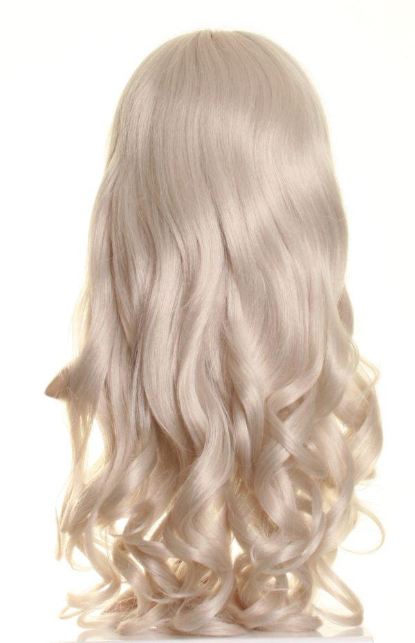 Maddie - Long curly grey wig