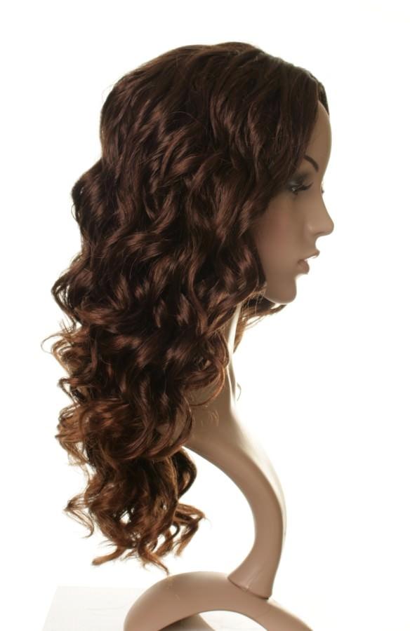 Corrine - Long curly brown wig