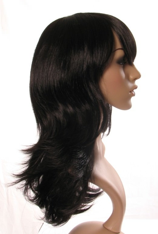 Ellie - Layered black long wig