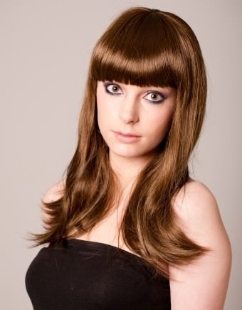Lacey - Brown wig with fringe