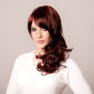 Amy - Long dark brown/red or auburn wig