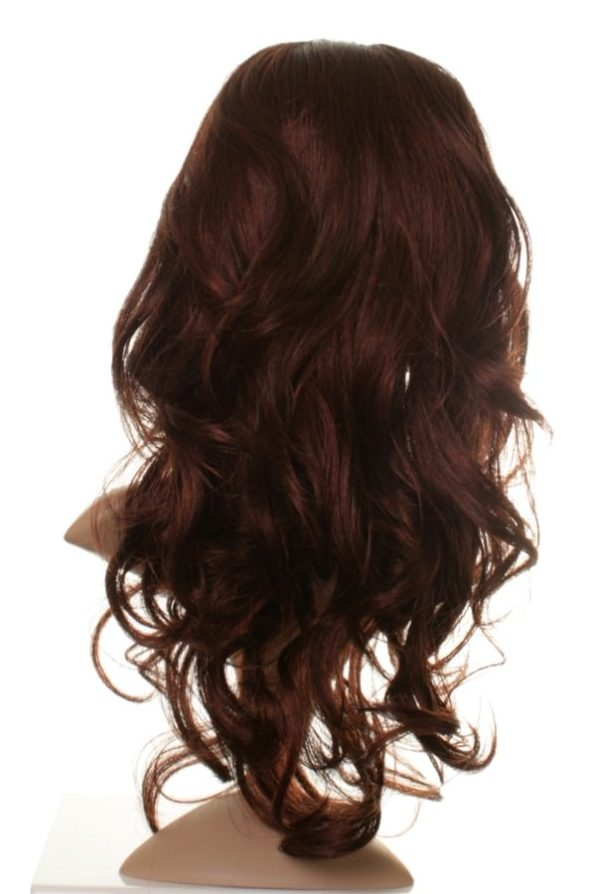 Amy - Long dark brown/red or auburn wig