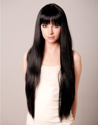 Rhiannon - Extra long black wig