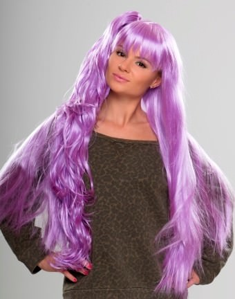 Candy - Light purple cosplay wig (with ponytail)