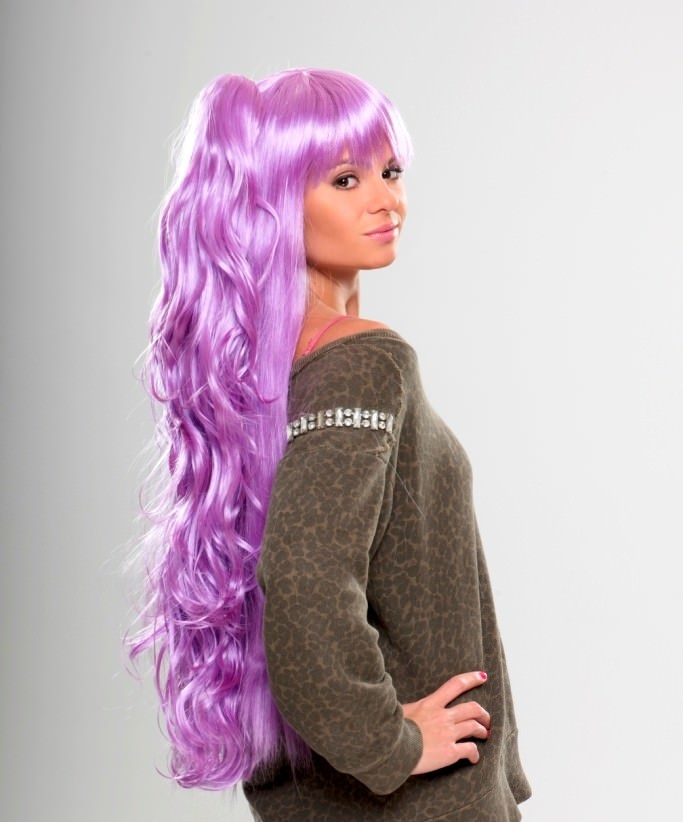 Candy - Light purple cosplay wig (with ponytail) b6f3fc863e65