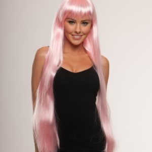 Beau - Extra long pink wig