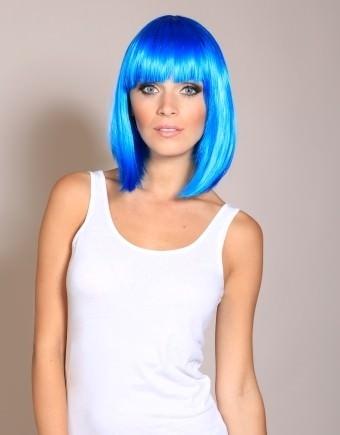 Miss Blue - Bright blue GaGa style bob wig - Wonderland Wigs 364fa40b6c92
