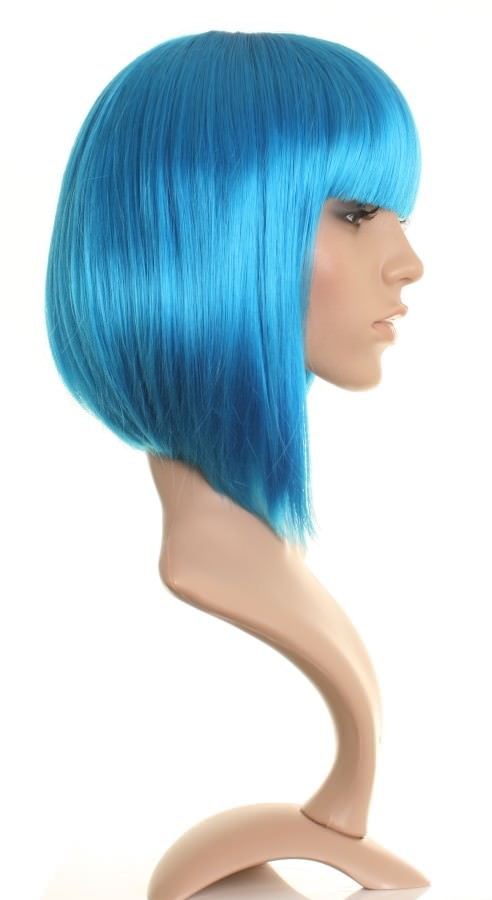 Miss Blue - Bright blue GaGa style bob wig