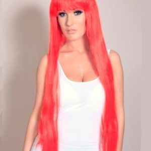 Fizz - Extra long bright red straight cosplay wig