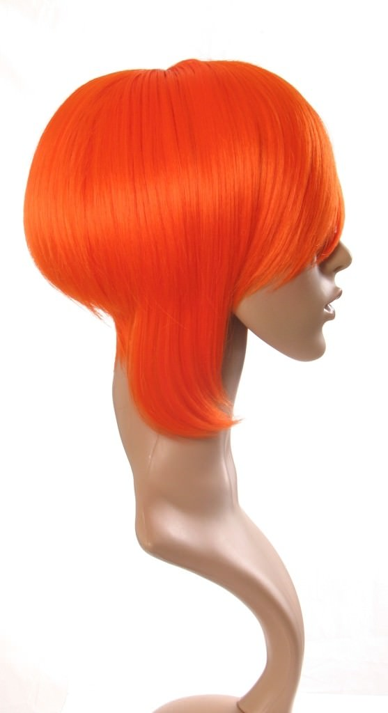 Amber - Short tapered orange cosplay style wig