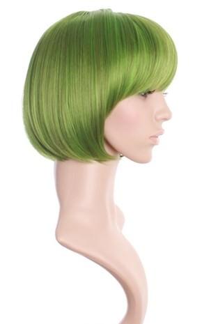 Carly - Short green bob style wig