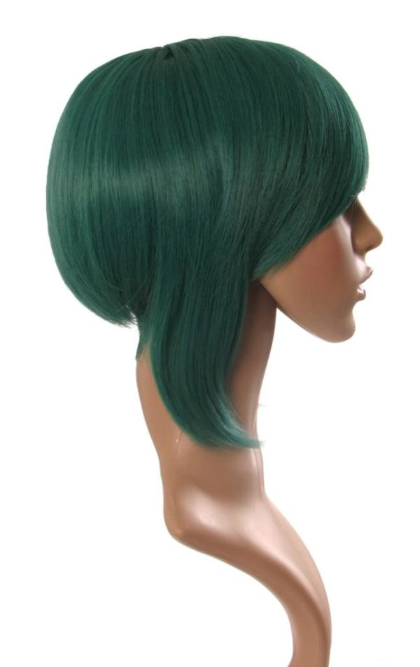 Caz - Aqua green tapered cosplay bob wig