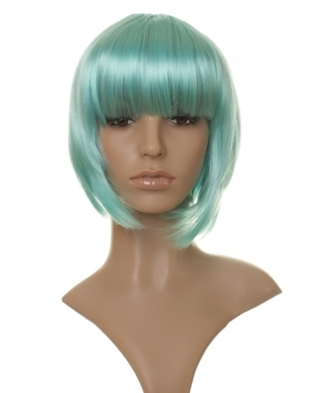 Laylee - Turquoise blue straight bob wig