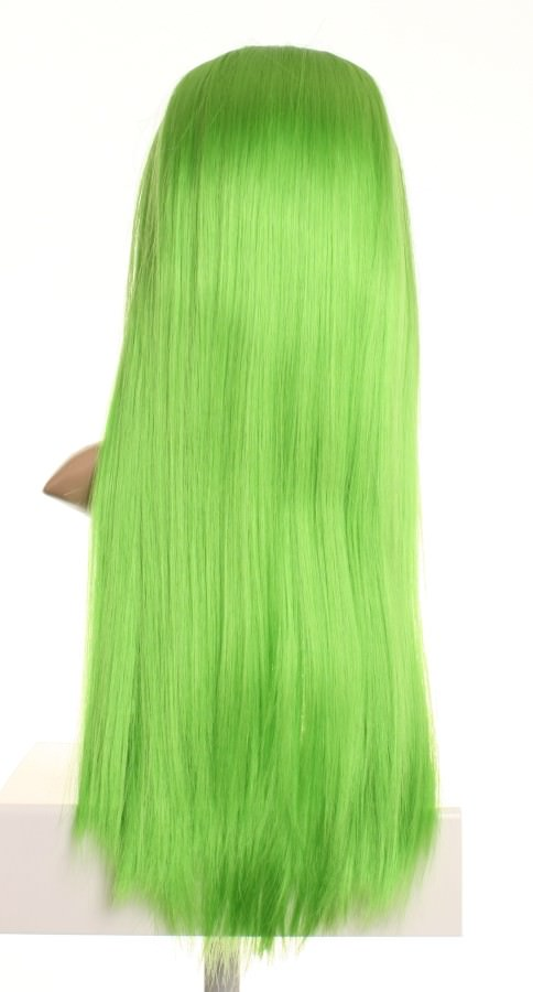 Wilde - Bright green straight wig with fringe