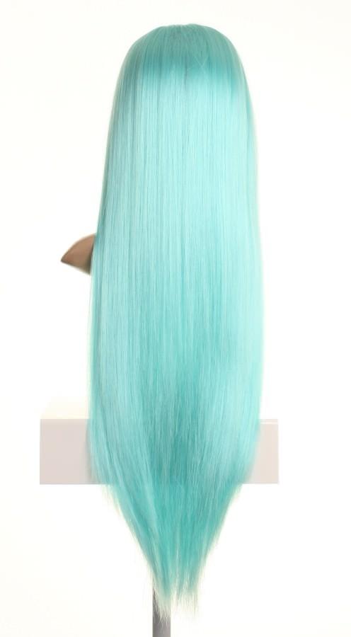 Kittie - Long light baby blue wig