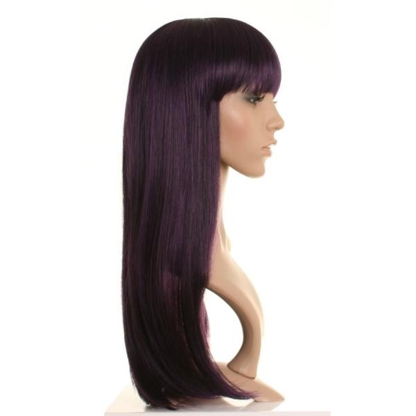 Luna Long Black And Purple Straight Wig Wonderland Wigs