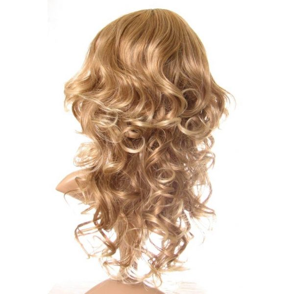 Veronica - Long very light brown curly with with natural blonde highlights