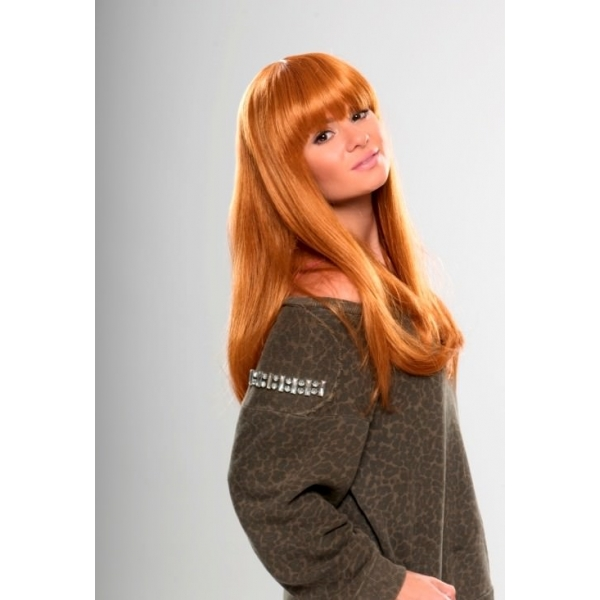 Fay – Long straight ginger strawberry blonde wig 4e3c69423