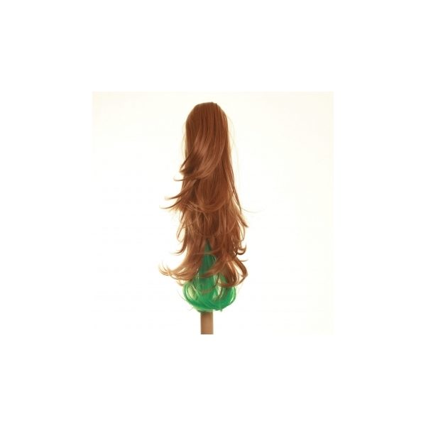 Flicked clip in ombre dip dye ponytail hairpiece in Ginger and Green