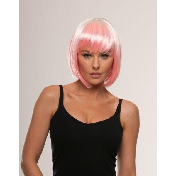 Pink dip dye wig